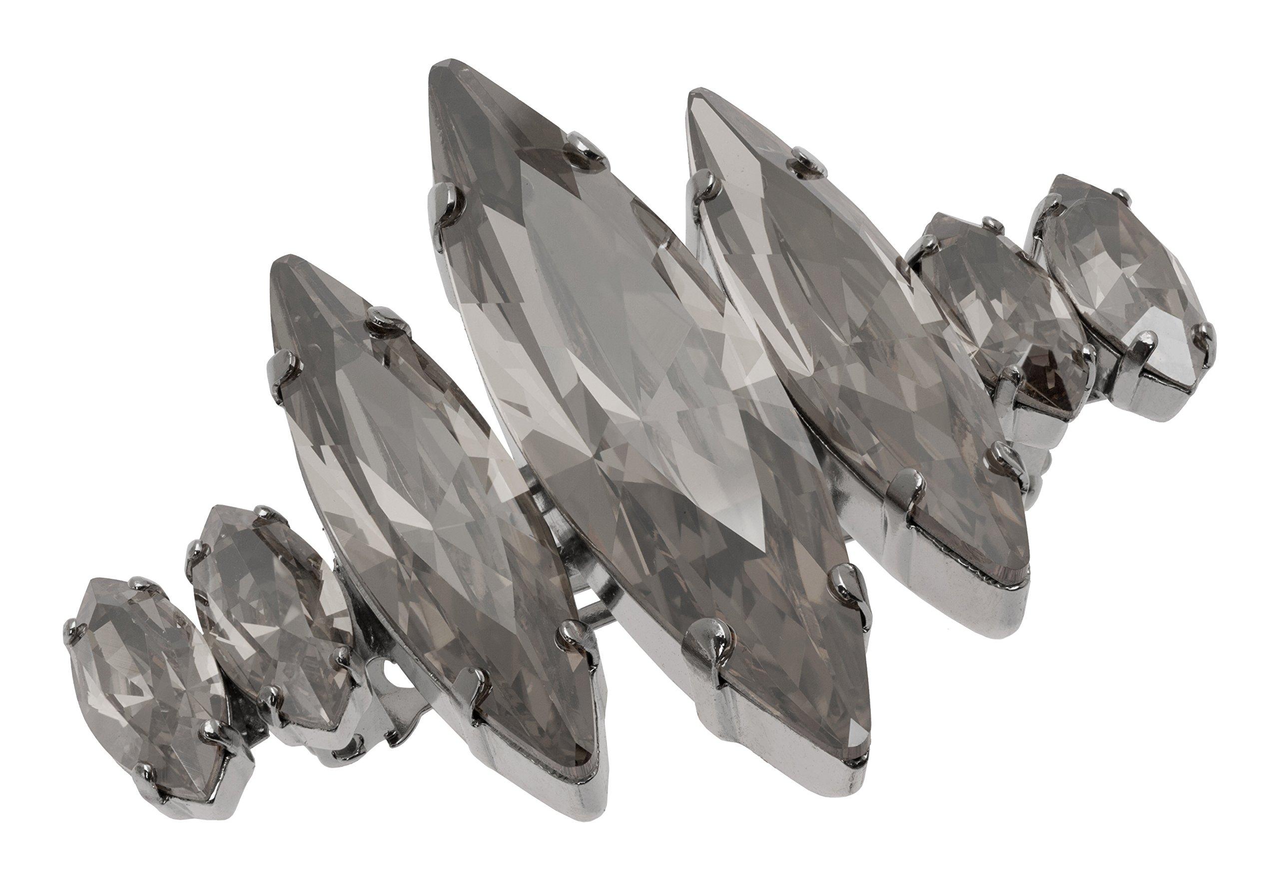 L. Erickson Spike Crystal Barrette - Black Diamond