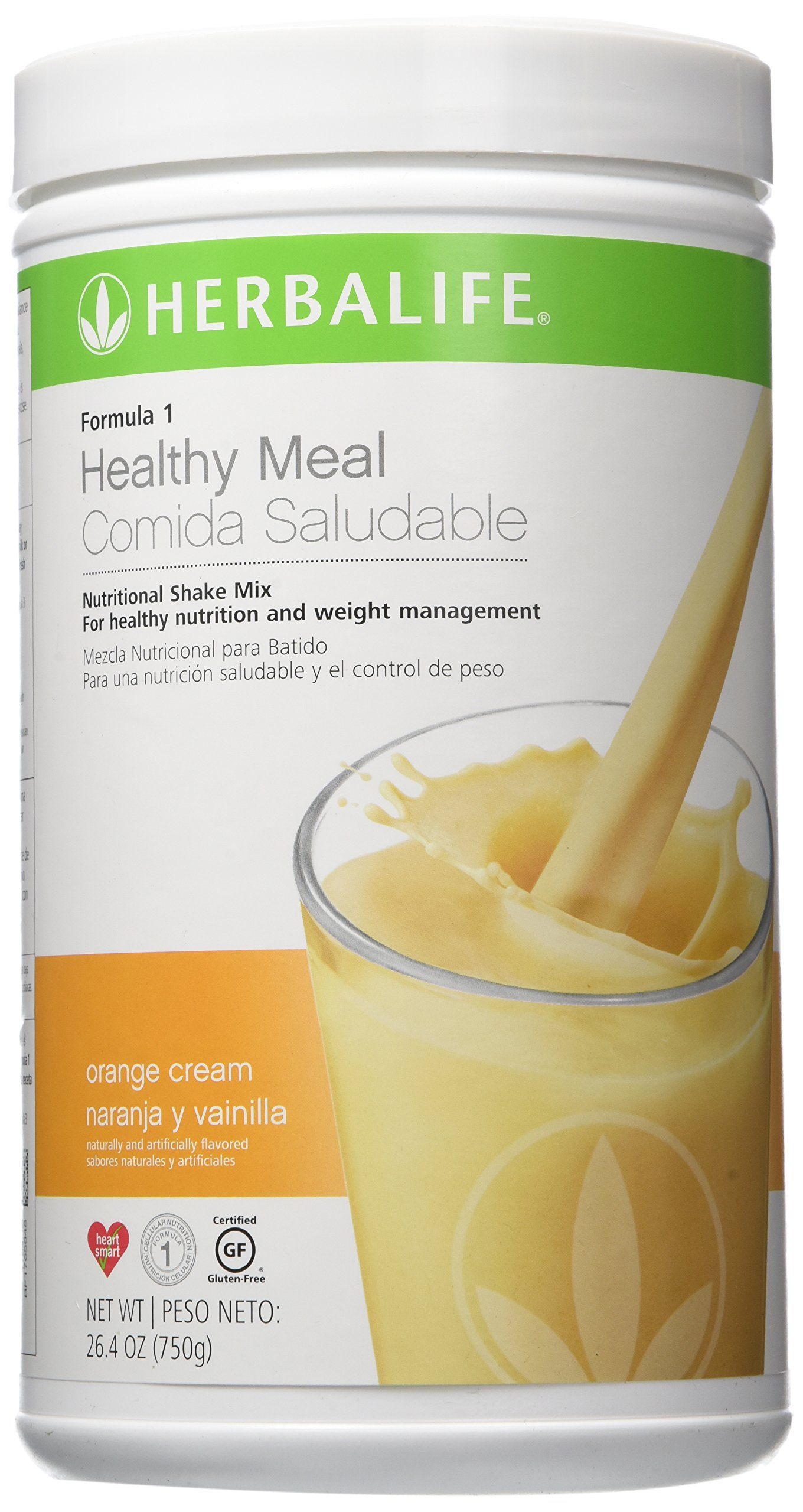 Herbalife Formula 1 Nutritional Shake Mix, Orange Cream Naranja/Vainilla, 26.4 Ounce