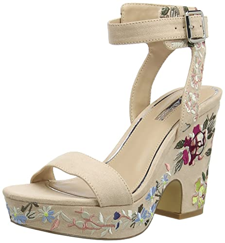Embroidered, Sandales Bride Cheville Femme, Multicolore (Multi Multi), 39 EUMiss Selfridge