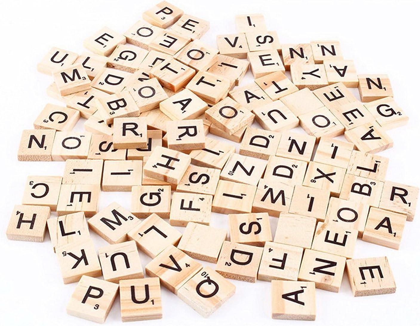 TaoNaisi Scrabble Tiles (100 azulejos de la letra): Amazon.es: Juguetes y juegos