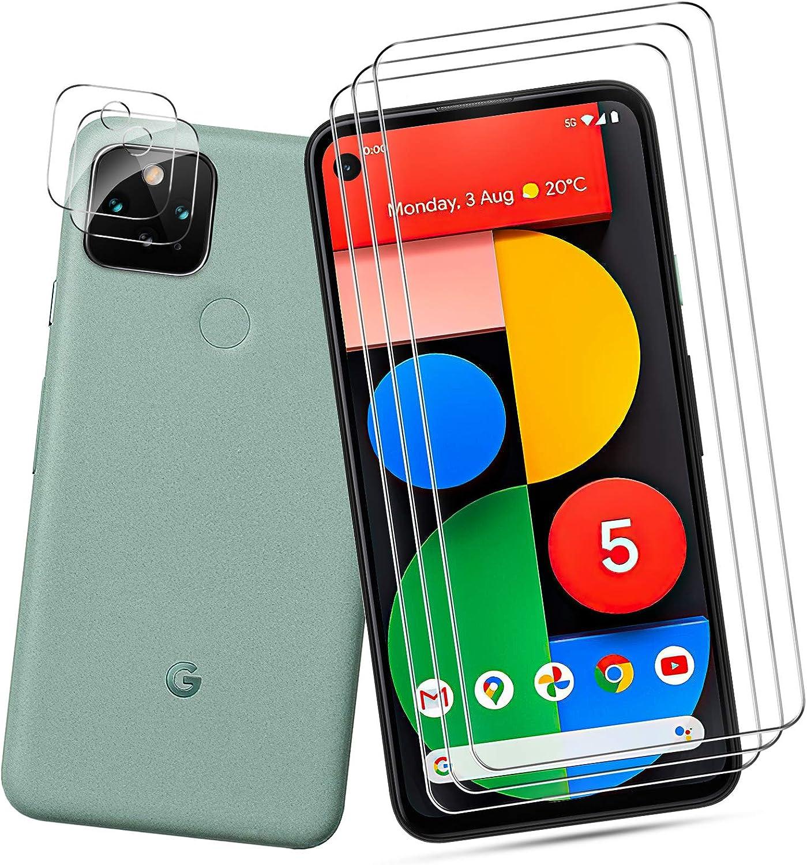 Qitayo Für Google Pixel 5 Panzerglas Schutzfolie Kamera Panzerglas Kratzresistent High Definition Panzerglas Kameraschutz Für Google Pixel 5 3 2 Stück Elektronik