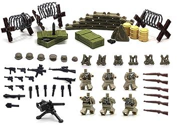 Serie de la Segunda Guerra Mundial de la fuerza alemana - Mini figuras de Lego personalizadas