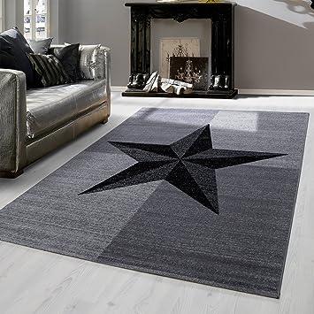 Teppich fur wohnzimmer  Amazon.de: Modern designer Teppich für Wohnzimmer kariert Stern ...