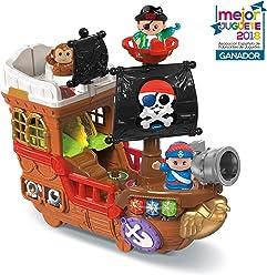 VTech Barco pirata, cazatesoros transformable en isla, incluye 3 figuras, color Verde (