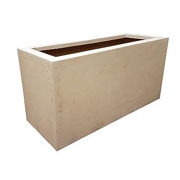 Blanco diferentes tipos de piedra rectangular comedero macetero para interiores/exteriores olla - 80 x