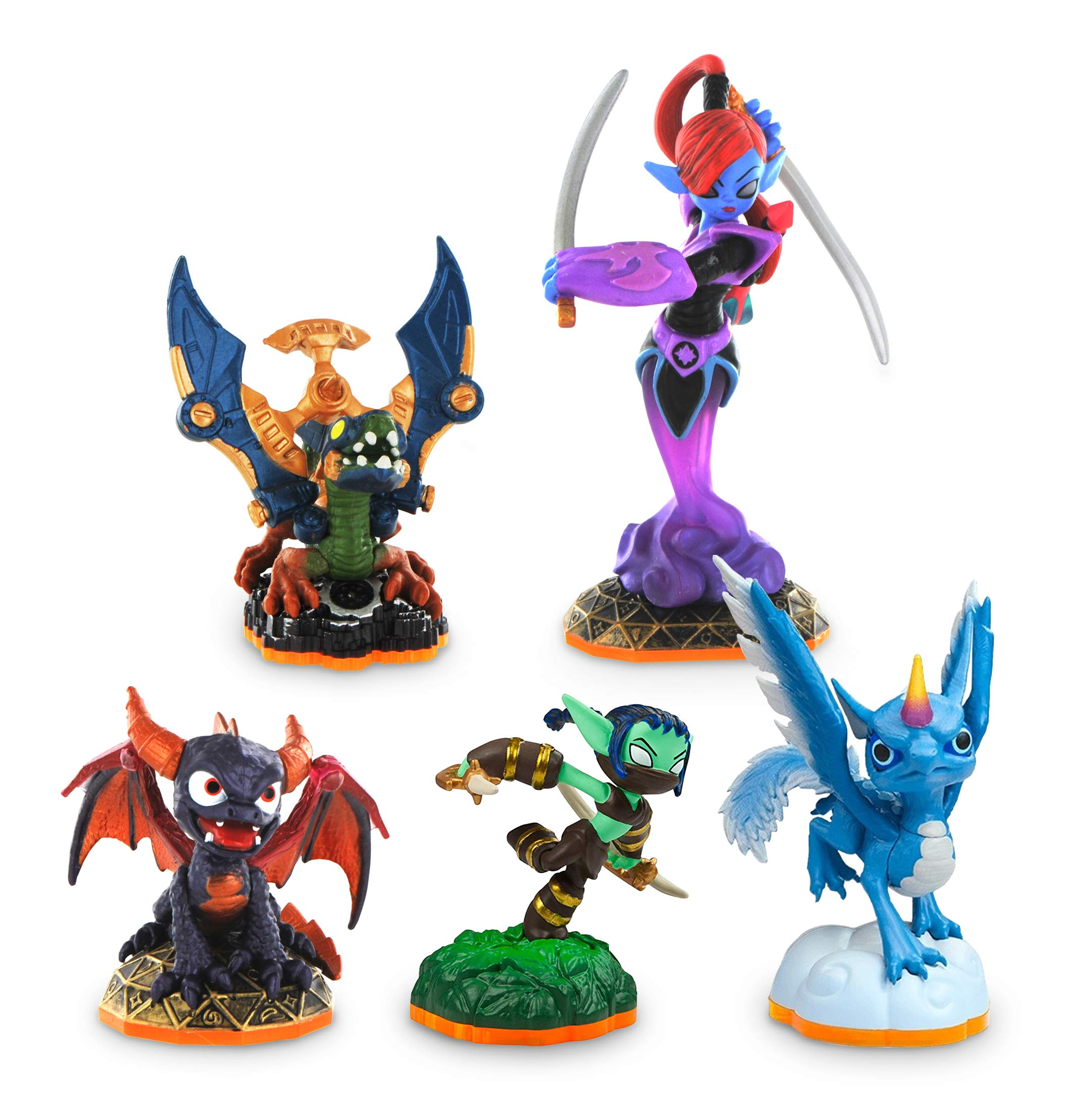 Skylanders Giants Pack (Drobot / Giant Ninjini / Spyro S2 / Stealth Elf / Whirlwind) (No Retail Package)