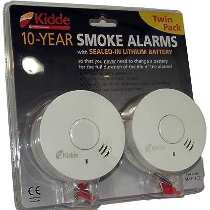 Kidde - Alarmas de Humo (2 Unidades, 10 años de duración de ...