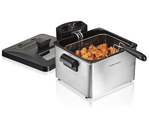 Hamilton-Beach-Triple-Basket-Electric-Deep-Fryer-Professional-Style