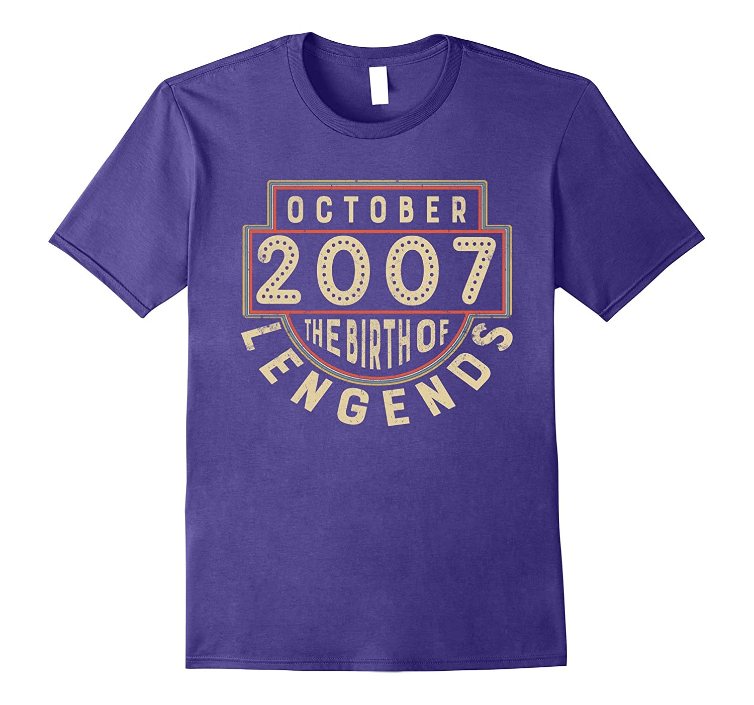 2007 OCTOBER The Birth Of Legends Classic 10 Years Old 10th-T-Shirt
