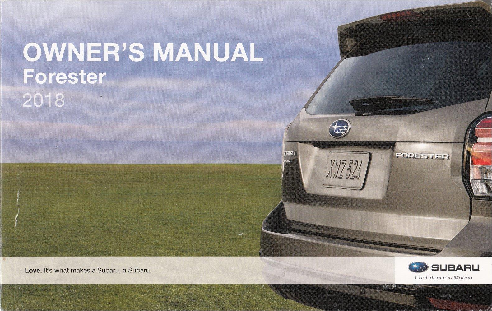 2018 Subaru Forester Owner S Manual Original Subaru Amazon Com