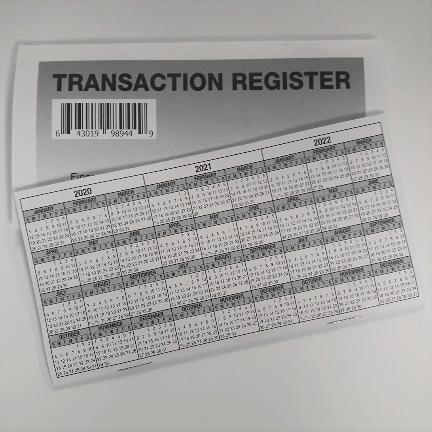 6 - Checkbook Registers - 2020-21- 22 Calendar - Transactions Checking Book Bank : Office Products
