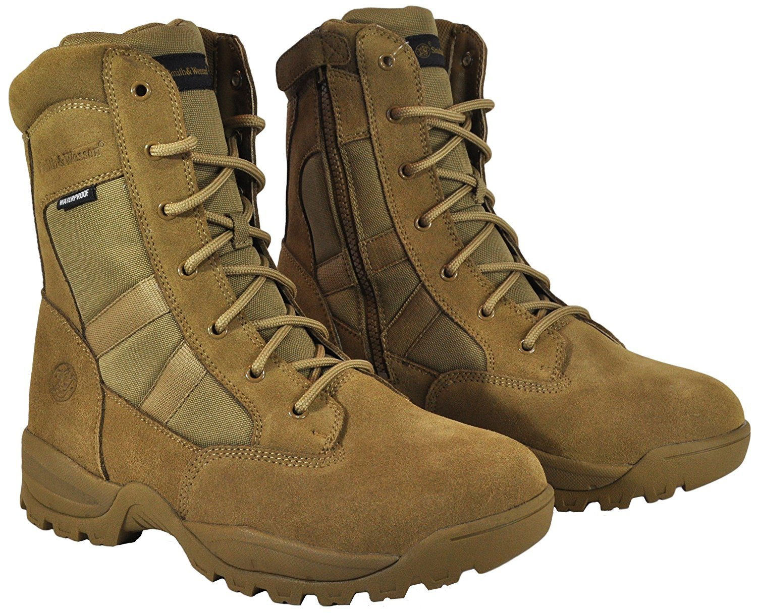 Smith & Wesson Footwear Men's Breach 2.0 Tactical Size Zip Boots, Coyote, 10W by Smith & Wesson (Image #4)