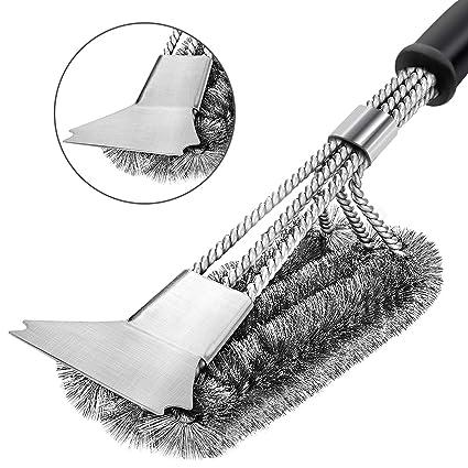 Amazon.com: YMSZ - Cepillo para parrilla y raspador de acero ...