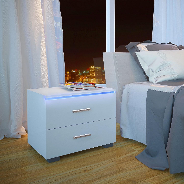 table de chevet blanc brillant perfect nechal with table de chevet blanc brillant good chevet. Black Bedroom Furniture Sets. Home Design Ideas