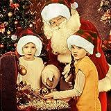 Aneco 4 Pack Santa Red Hat Christmas Plaid Santa