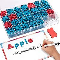 JoyNote Classroom Magnetic Letters Kit 234 Pcs with Double-Side Magnet Board - Foam Alphabet Letters for Kids Spelling…
