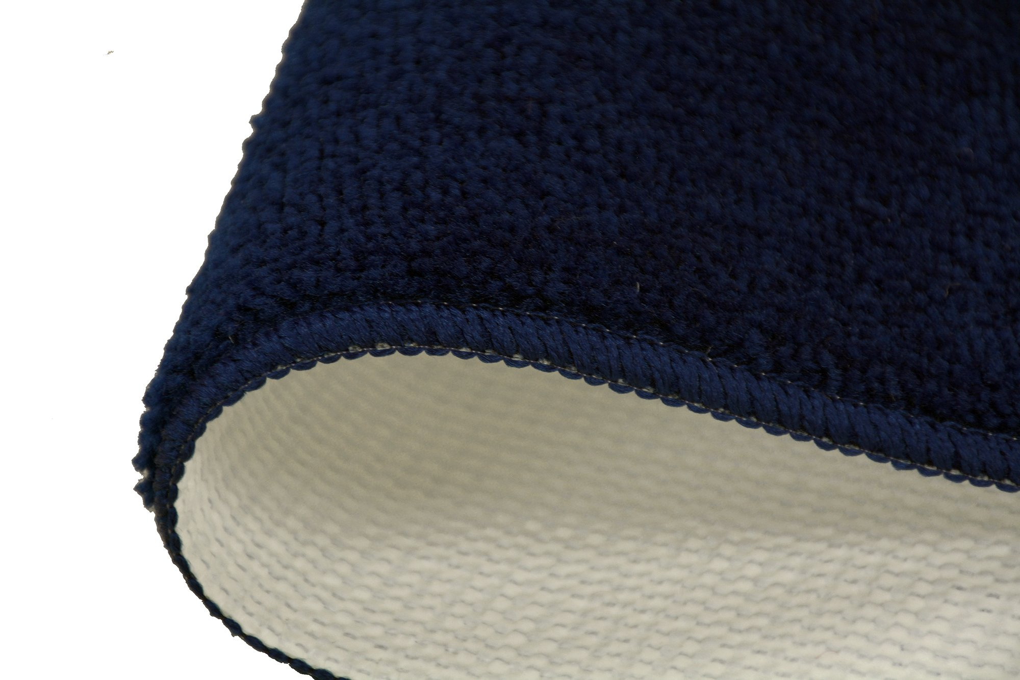 RugStylesOnline TRENDY-ST-8X30-NAVY-13 Trendy Stair Tread Treads Indoor Skid Slip Resistant Carpet Stair Tread Treads Machine Washable 8 ½'' W x 30'' L, Royal Navy Blue, Set of 13 by RugStylesOnline (Image #4)