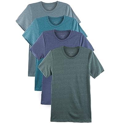Bolter 4 Pack Men's Everyday Cotton Blend Short Sleeve T-Shirt | .com