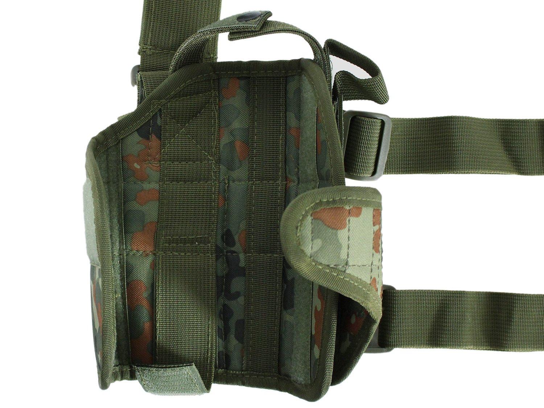flecktarn PHX Nylon Tiefziehholster // Oberschenkelholster // Beinholster verstellbar rechts