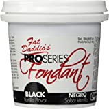 Fat Daddio's Fondant, Black, 8 oz, Vanilla Flavor