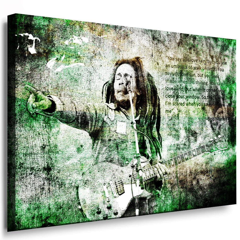 Bilder Kunstdrucke   Boikal   Bild mit Keilrahmen Bob Marley 120x80 cm xxl.246