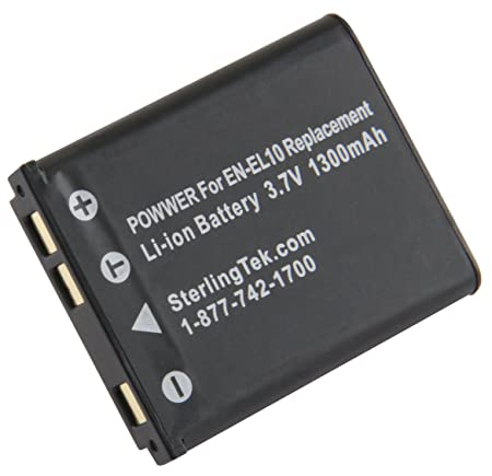 STK EN EL10 Battery Replacement for Nikon Coolpix S3000 Batteries