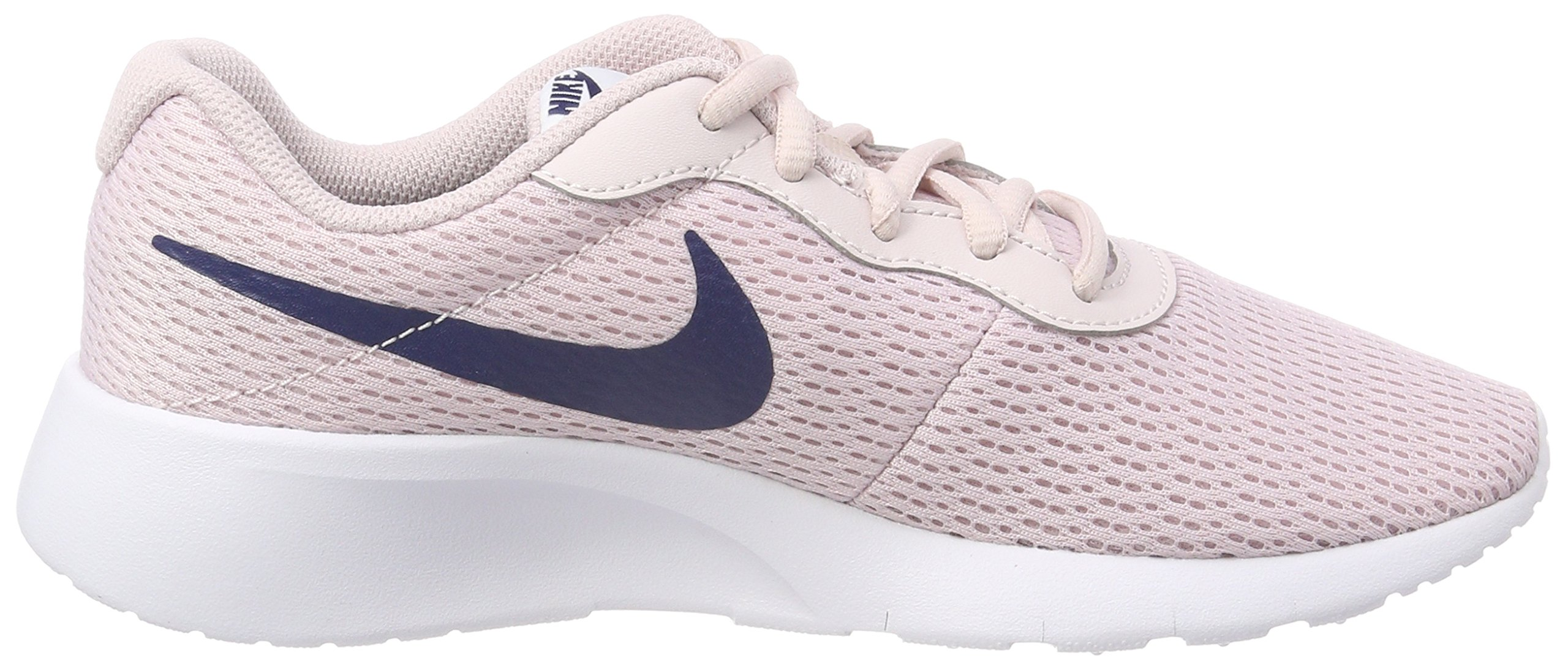 Nike Girl's Tanjun Shoe Barely Rose/Navy/White Size 4 M US by Nike (Image #6)