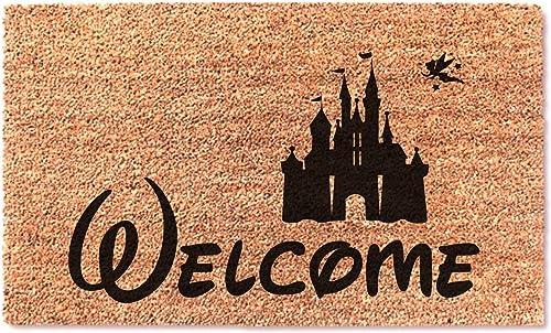 Welcome Castle Easy Clean Door Doormat – New Home Door Mat Wedding Fun Gift