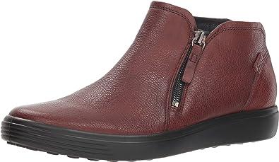 ECCO Womens Soft 7 Low Zip Bootie Sneaker