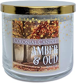 product image for Amber and Oud Scented Candle with Three Wicks