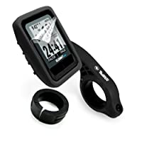 Tuff Luv Silicone Gel Skin Case, Screen Cover Protection & Mount for Wahoo Elemnt Mini - Black