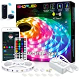 SHOPLED 5m Smart WiFi LED Strip Lights with Alexa Tuya Smart, APP Control, Music Sync, 16 Million RGB Color Changing led…