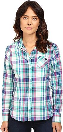 Polo Assn Juniors Long Sleeve Solid Oxford Woven Shirt U.S