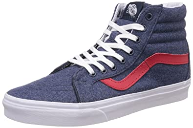Vans Unisex Sk8-Hi Reissue Leather Sneakers  Buy Online at Low Prices in  India - Amazon.in f4a2b7676