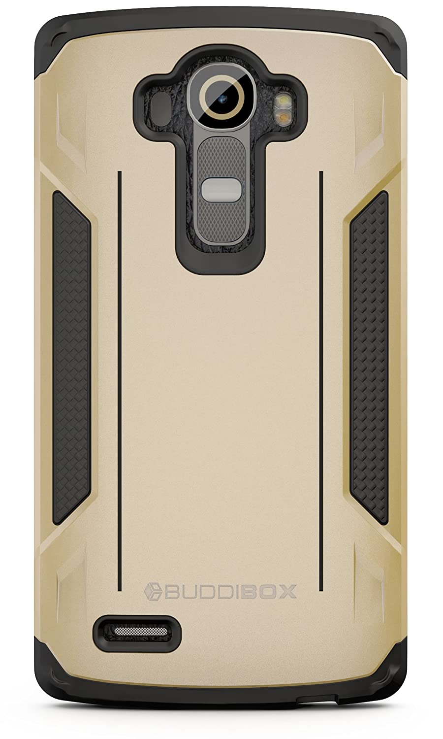 BUDDIBOX LG G4 Case, [Corner Series] Slim Fit Dual Layer Soft Cushion Drop Protection Heavy Duty Case for LG G4, (Gold)