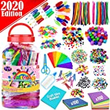 FunzBo Arts and Crafts Supplies for Kids - Assorted Craft Art Supply Kit for Toddlers Age 4 5 6 7 8 9 - All in One D.I.Y. Crafting Collage Arts Set for Kids (Jumbo)