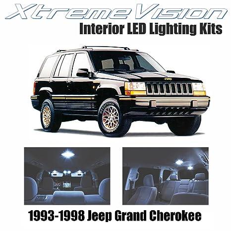 xtremevision Jeep Grand Cherokee (modelos de 1993 – 1998 (9 piezas) blanco frío