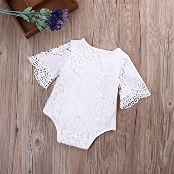 Carolilly Baby Romper Summer Lace Girl Bodysuit Sleeveless Floral Embroidery Romper Infant Cotton
