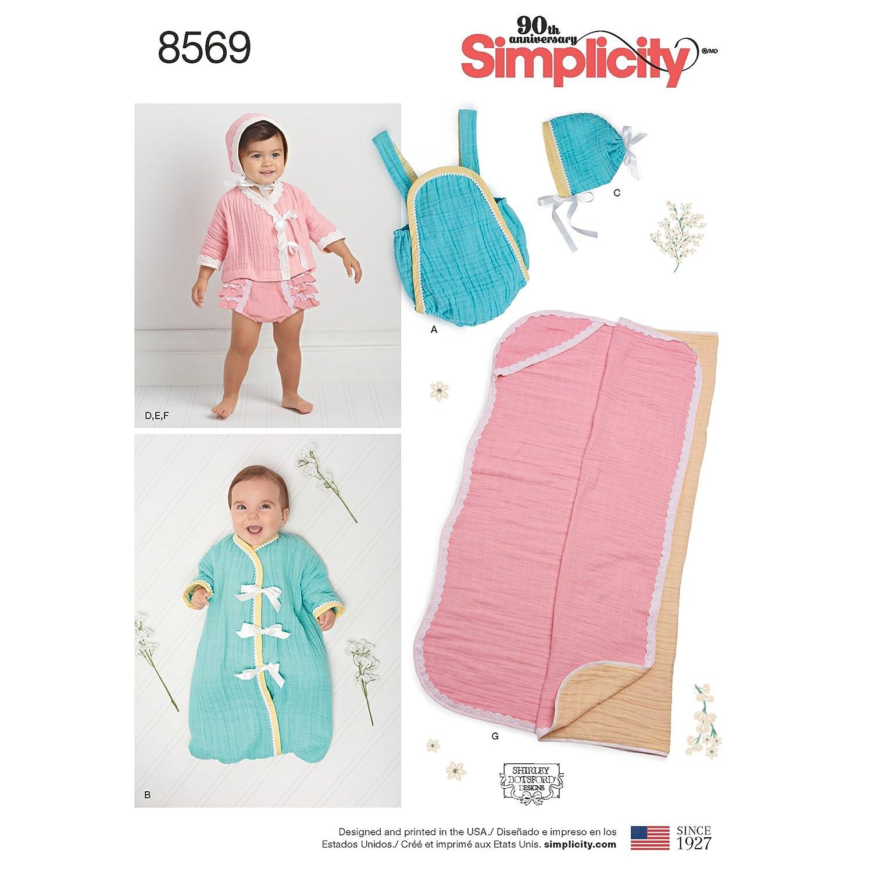 Simplicity Pattern 8569 bebé separa y manta patrón de costura ...