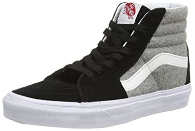 b49e2e854a Vans Sk8 Hi (Wool Sport) Black Grey Men s Size 8