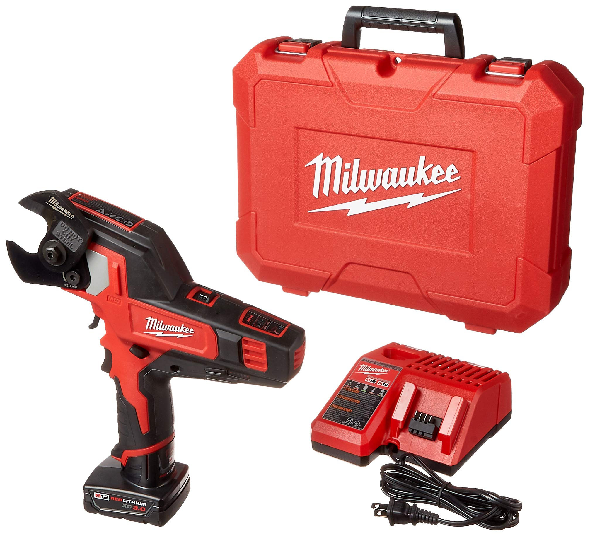 Milwaukee 2472-21XC M12 600 Mcm Cable Cutter Kit by Milwaukee