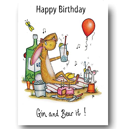 Gin tarjeta - feliz cumpleaños Gin y tener it. - Compost ...