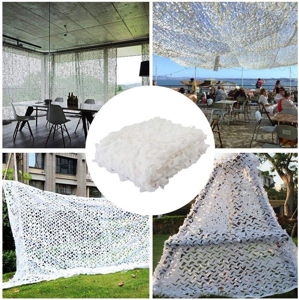 白い迷彩ネット迷彩日焼け止め日焼け止め日焼け止めテント2 * 3 M、写真装飾ガーデン6 * 8 Mに適し で利用可能 (Size : 5*10M(16.4*32.8ft))  5*10M(16.4*32.8ft)