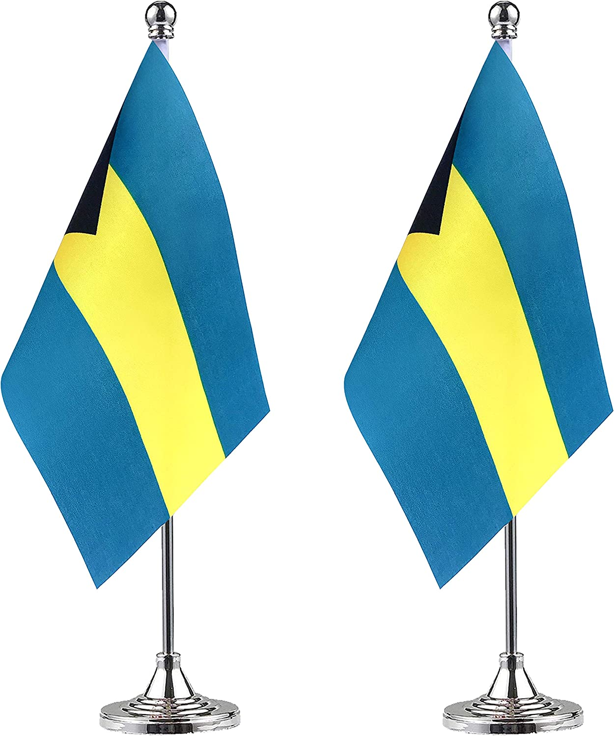 9 x 6 Barbados Barbadian Caribbean Large Desktop Table Flag With Wooden Base /& Pole Ideal For Party Conferences Office Display
