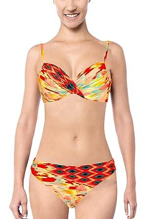 d714ada248 Tessy Beachwear Women's Bikini Set - Multicoloured - 38/12: Amazon ...