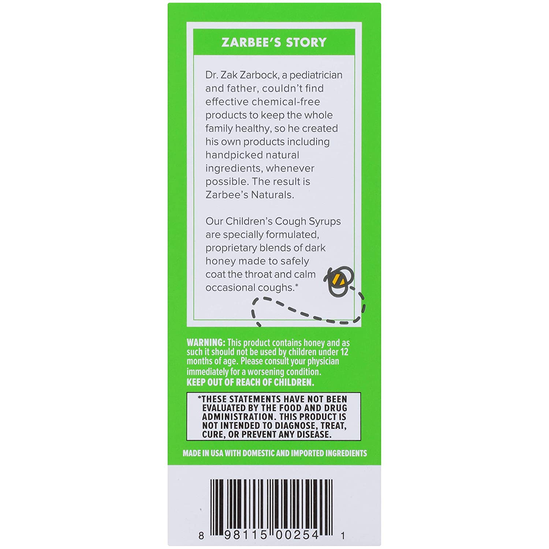 Zarbees Naturals Childrens Cough Syrup, Grape + Mucus Relief, 4 Fl Ounce: Amazon.es: Salud y cuidado personal