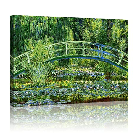 YIMEI ART The Japanese Bridge (The Water Lily Pond), Claude Monet