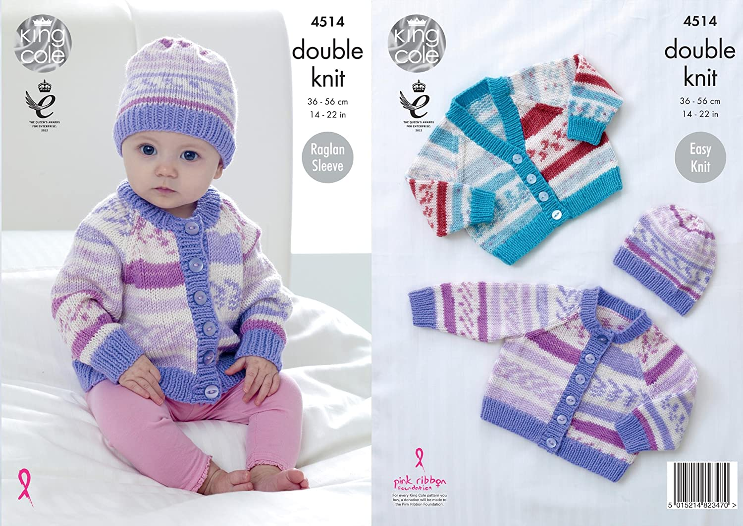 4d706aef049b King Cole 4514 Knitting Pattern Baby Cardigans and Hat to knit in ...