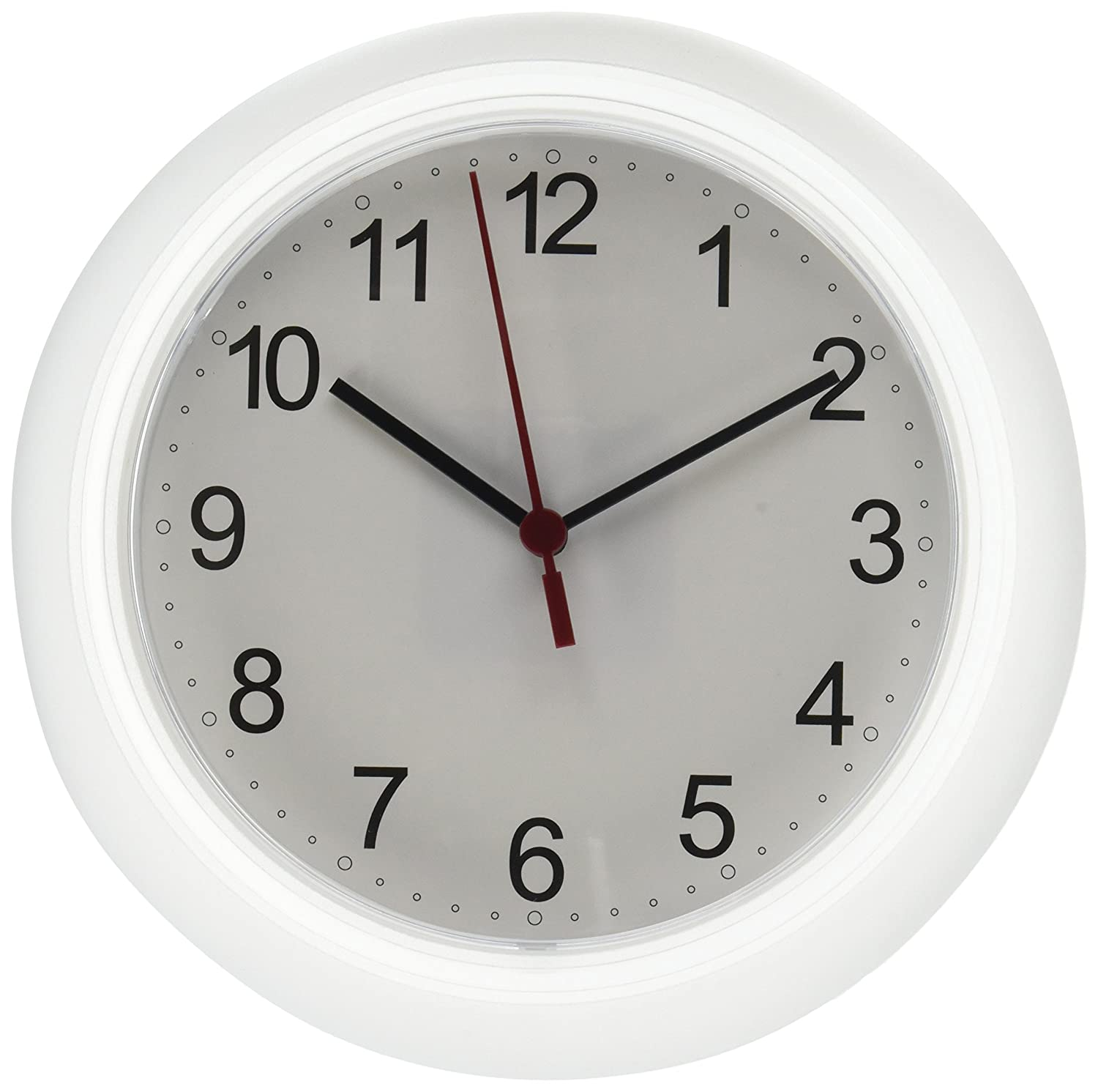 Amazon ikea rusch 25x4 cm wall clock white home kitchen amipublicfo Gallery