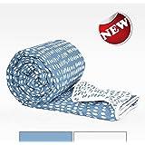Divine Casa Luxor Polka Dot Polyester Single Comforter - Light Blue and White (110 GSM)